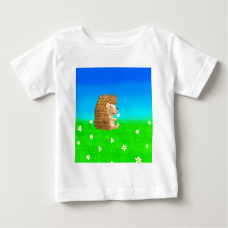 hedgehog with flower baby T-Shirt