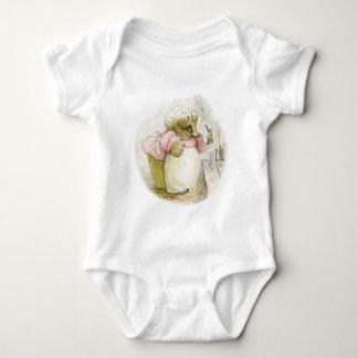 Hedgehog with Iron Mrs Tiggy-Winkle Baby Bodysuit