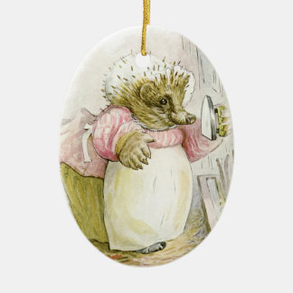 Hedgehog with Iron Mrs Tiggy-Winkle Christmas Ornament