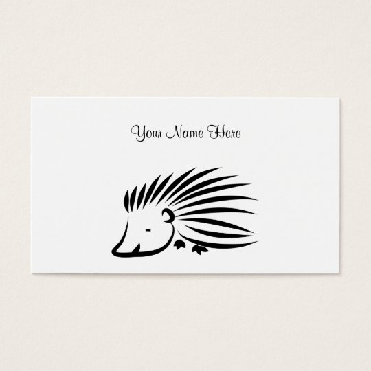Hedgehog, Your Name Here Business Card