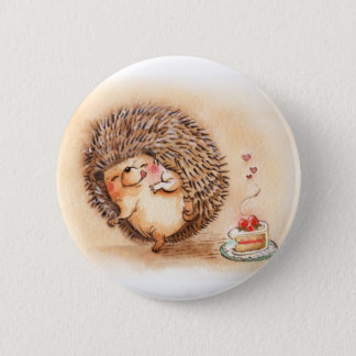 Hedgehog Yum 6 Cm Round Badge