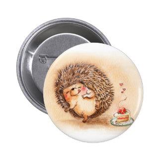 Hedgehog Yum 6 Cm Round Badge