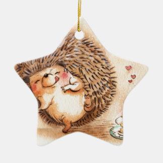 Hedgehog YUM! Christmas Ornament