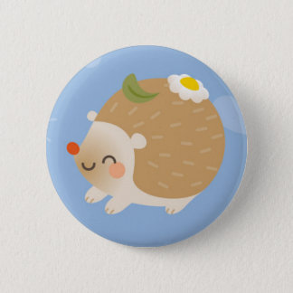 Hedgehogs 6 Cm Round Badge