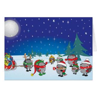 Hedgehog's Christmas magic Card
