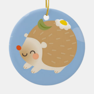 Hedgehogs Christmas Ornament