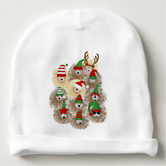 Hedgehogs Holiday Baby Beanie