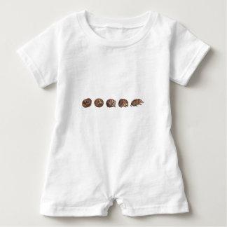 Hedgehogs in a line baby bodysuit