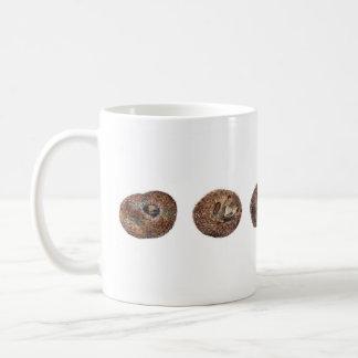 Hedgehogs in a line coffee mug