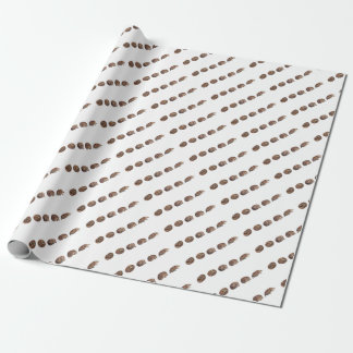 Hedgehogs in a line wrapping paper