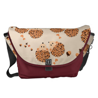 hedgehogs in autumn commuter bags