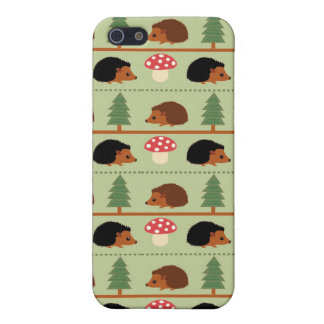 Hedgehogs, Mushrooms and trees iPhone 5/5S Case