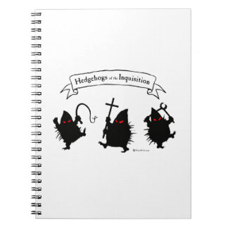 Hedgehogs of the Inquisition! Spiral Notebooks