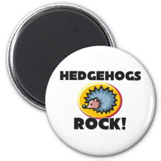 Hedgehogs Rock Fridge Magnet