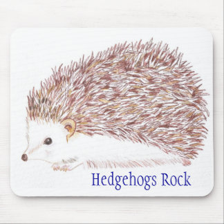 Hedgehogs Rock Mouse Mat