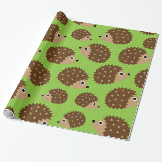 Hedgehogs seamless pattern (ver.3) wrapping paper