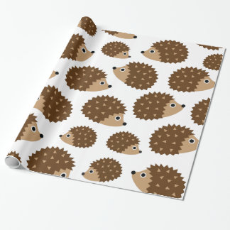 Hedgehogs seamless pattern (ver.6) wrapping paper