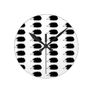 hedgehogy round clock