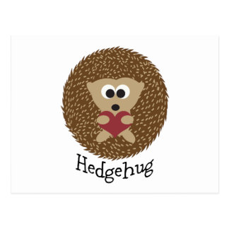 Hedgehug Hedgehog Postcard