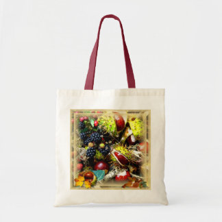 Hedgerow Harvest ~ Budget Tote Canvas Bag