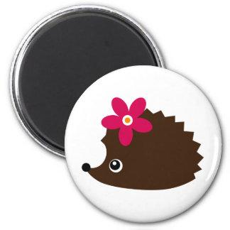 hedgie 6 cm round magnet