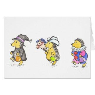Hedgie Halloween card