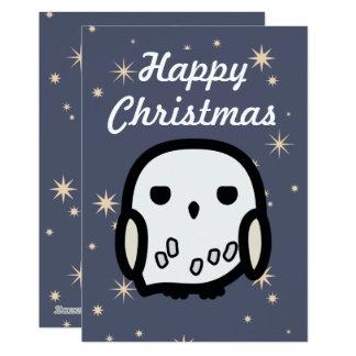 Hedwig Cartoon Character Art Christmas Card 13 Cm X 18 Cm Invitation Card