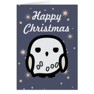 Hedwig Cartoon Character Art Christmas Greeting Card
