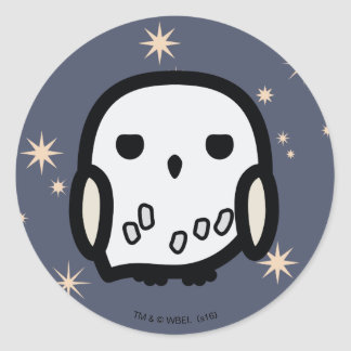 Hedwig Cartoon Character Art Classic Round Sticker