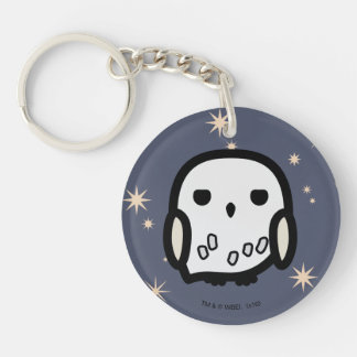 Hedwig Cartoon Character Art Key Ring