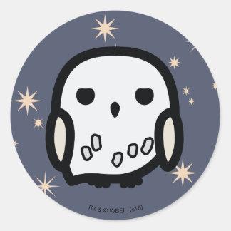 Hedwig Cartoon Character Art Round Sticker