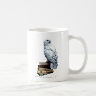 Hedwig on books basic white mug