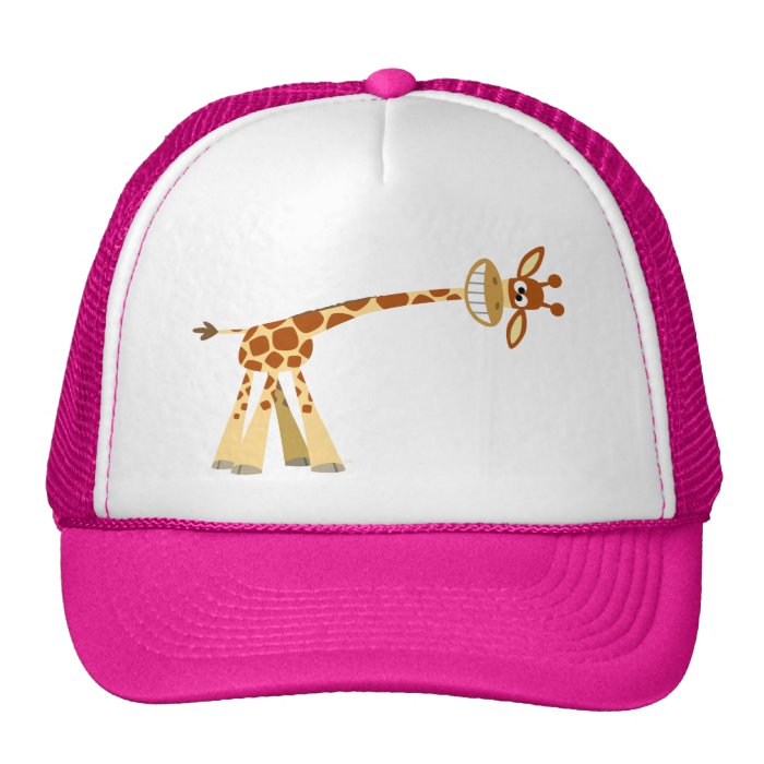 Hee Hee Hee!! cartoon giraffe Hat