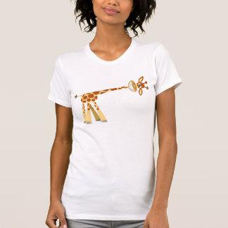 Hee Hee Hee!! Cartoon Giraffe women T-shirt