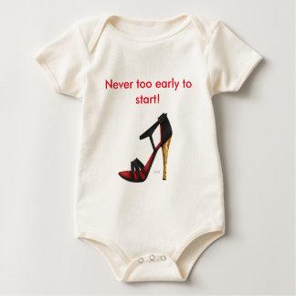 Heeled Evening Sandal Organic Cotton Baby Bodysuit