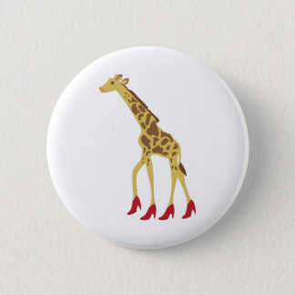 Heeled Giraffe 6 Cm Round Badge
