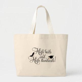 Heels and High Standards Jumbo Tote Bag