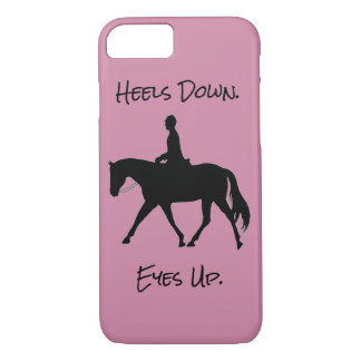 Heels Down Eyes Up English Rider on Horse iPhone 7 Case