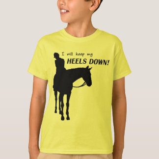 heels down side glance tee shirts