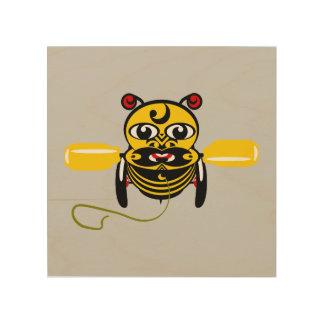Hei Tiki Bee Toy Kiwiana Wood Print