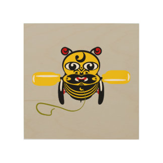 Hei Tiki Bee Toy Kiwiana Wood Prints