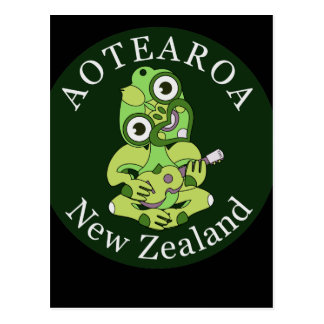 Hei Tiki Ukulele Aotearoa Postcard