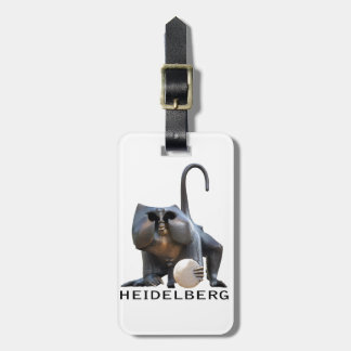 Heidelberg Bridge Monkey Luggage Tag