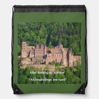 Heidelberg Castle & German Saying Backpack
