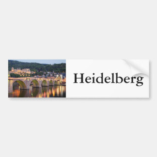 Heidelberg evening scene bumper sticker