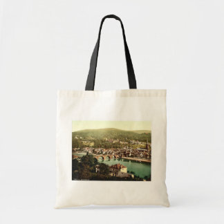 Heidelberg, seen from the Philosophenweg, Baden, G Tote Bag