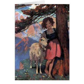 Heidi by Jessie Wilcox Smith Greeting Card