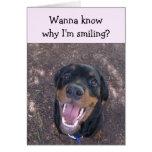 Heidi Happy Rottweiler Valentine's Day Card