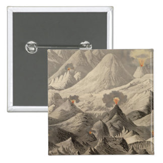 Height of the mountains 15 cm square badge