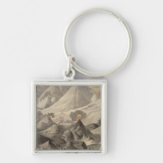 Height of the mountains Silver-Colored square key ring